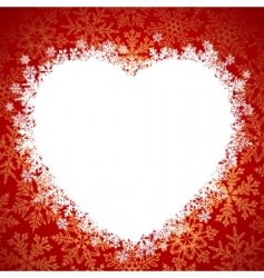 snow frame heart vector image