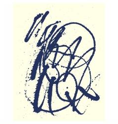 Splatter Black Ink Background vector image