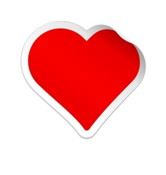 Sticker heart vector