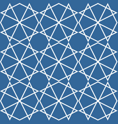 Tile pattern or blue and white background vector