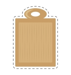 Wooden cutting board kitchen and cooking utensils vector