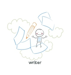 writer vector image vector image
