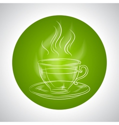 Design with cup of tea and place for text vector
