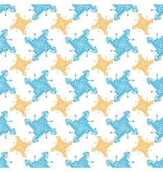 Seamless indian pattern with geometric ornate vector