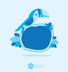 blue Bird Sign 3 vector image