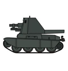 Old self propelled gun vector