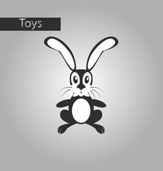 black and white style icon toy hare vector image
