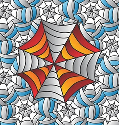 Color spiderweb art vector