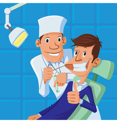 Dentist and patient vector