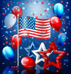 Shiny usa celebration independence day concept vector