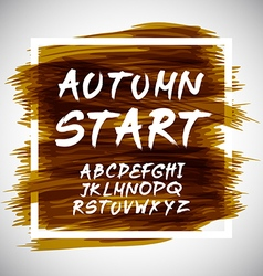 Autumn leaves font vector