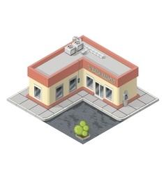 Isometric supermarket building vector