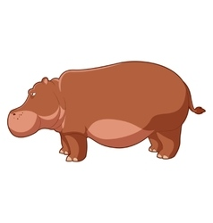 Cartoon brown hippo vector