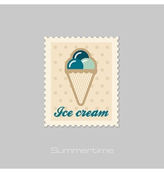 Ice Cream stamp Summer Vacation vector image