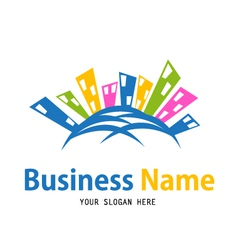 business house icon design vector image