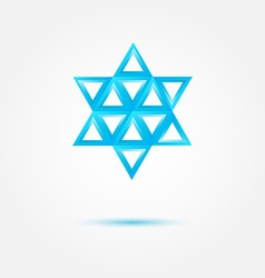 Abstract Jewish star made by triangles - symbol vector image vector image