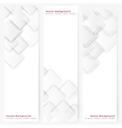 Abstract template vertical banner vector image vector image