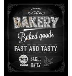 Bakery Poster on Chalk Board vector image