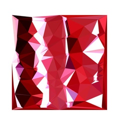 Barn red abstract low polygon background vector