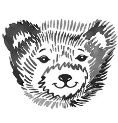 Bear smiling snout pattern vector