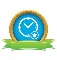 Best time certificate icon vector