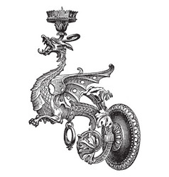 Candle-pricket about 18th century or earlier vector