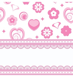 card with a pattern and laces vector image vector image