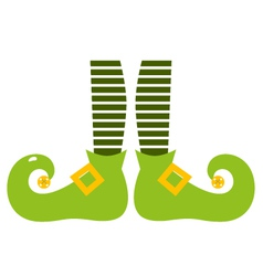 Cute elvish legs for saint patricks day vector