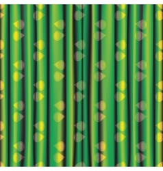 Fabric green yellow shiny bright curtain with eye vector