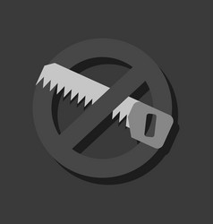 flat icon design collection no saws in sticker vector image vector image