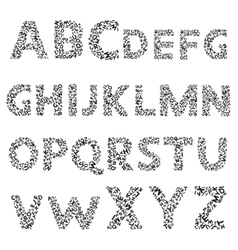 Hand drawn decorative textured alphabet vector image vector image