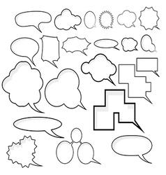 Japanese Manga Speech Box vector image vector image