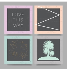 Love this way geometric backgrounds set vector