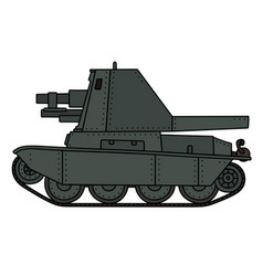 Old self propelled gun vector