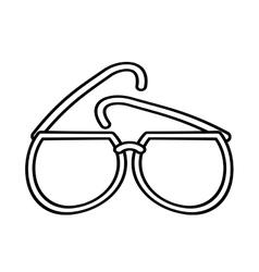 Outline sunglasses fashionable beach sunny vector