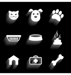 pet icons 2 vector image vector image