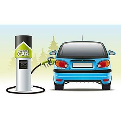 Refilling a hybrid car vector image