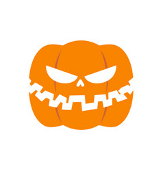 Scary pumpkin for halloween vegetables for vector