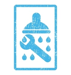 Shower plumbing icon rubber stamp vector