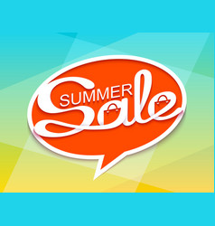 Summer sale banner with calligraphic inscription vector