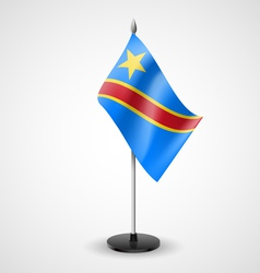 Table flag of democratic republic of the congo vector