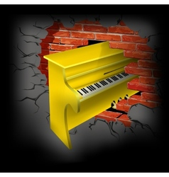 yellow piano vector image