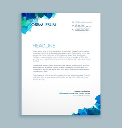 Abstract shapes letterhead design vector