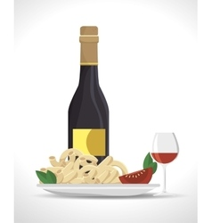 Italian food tradition isolated icon vector