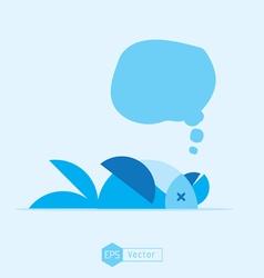 blue bird dead vector image