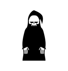 Grim reaper isolated death in hood on white vector