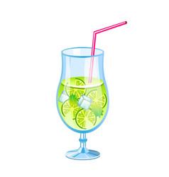 mojito fresh cocktail vector image