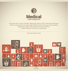Medical help background vector