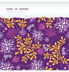 Purple and gold underwater plants horizontal torn vector