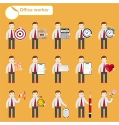 Office worker - business sketches vector